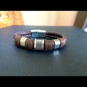 Men's Titanium Steel Weaved Bracelet